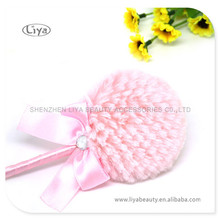 Pink Lolly Puff With Fluorescent Powder