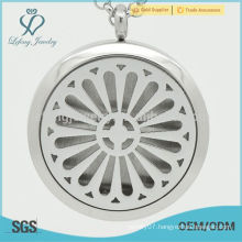 Stainless steel aroma diffuser,silver perfume locket pendant jewelry