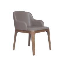 Sillón de comedor de cuero Grace de muebles para el hogar moderno