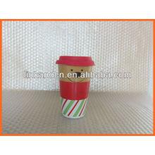 Haonai KC-00944 lovely ceramic mug with silicon lid