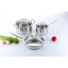 3 Piece Set Dapur Stainless Steel Profesional