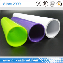 Tube en plastique de tube de PVC de diamètre de 18mm résistant au feu blanc pour la protection de câble