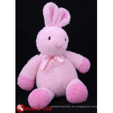 ICTI Audited fábrica de alta calidad de promoción personalizada de conejo de color rosa juguetes de peluche