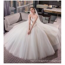 OEM 2017 Elegante Off Shoulder White Princess Tulle Lace vestido de noiva vestido de noiva sob 100