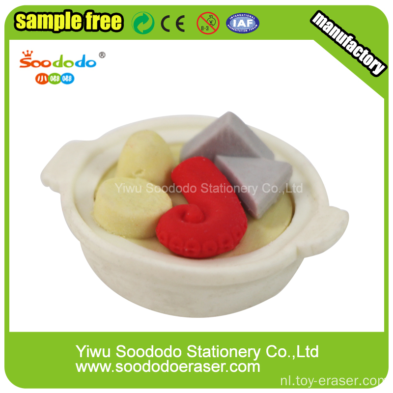 3D Seafood Noodles Food Shaped Eraser