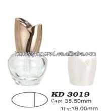 Ellipsoid garrafa de unha polonês e Golden Rose Cap