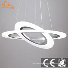 Luz pendurada acrílica do pendente do diodo emissor de luz do acrílico dos anéis redondos por atacado para a casa
