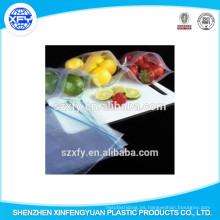 Bolsa de plástico de bloqueo de cremallera para la fruta