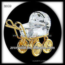 К9 3D Золотой покрытием Кристалл Детские коляски