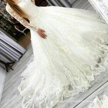 Уинстон Свадебные Атласная С Длинным Рукавом Свадебное Платье