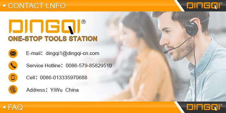 DingQi 19mm Small MOQ Private Label Bi Scie-cloche en métal pour carrelage
