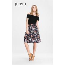 off Shoulder Floral Women Dress