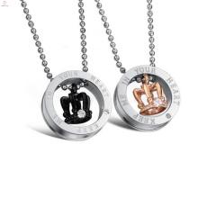 Heißer Verkauf Schmuck handgemachte Titan kleine Liebe Halskette Halskette Paar Liebe
