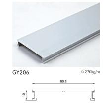 Eloxiertes Silber-Aluminium-Schrank-Profil