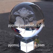 personalizado bola de cristal transparente atacado para presente e lembrança favor