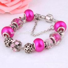 Yiwu fabricant de perles au diamant fabricant bracelet en métal fait main