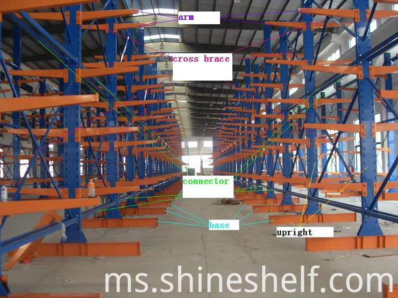 cantilever racking illustration