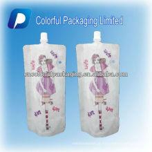 o malote líquido reusável do bico / levanta-se a fabricação do saco / malote fábrica