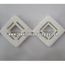 window shape fresh water shell beads