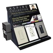 Electrodomésticos Tienda de mostrador Black Metal Publicidad 3 Electronics Switches Showroom Display