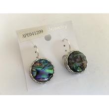 Style de vent coloré Shell boucle d'oreille Fashion Jewellery océan