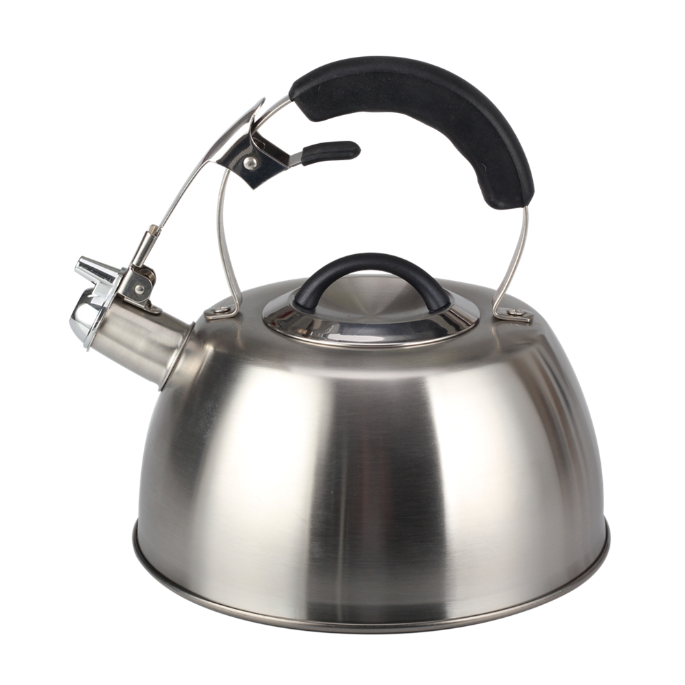 Half Plastic Handle Of Durable Whistling Kettle