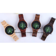 Womens Wood Watch Ladies Swiss Movement Wristwatches Handmade Natural Wood Watch
