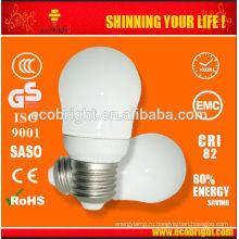 5W супер мини груша энергосберегающая лампа 10000H CE качества