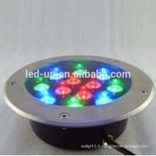 12w RGB led lumière souterraine avec des lumens élevés