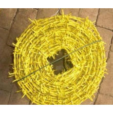 Fil barbelé en PVC à faible prix de qualité (jaune)