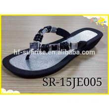 Air Sole Blowing Zapatilla Zapatos, diament pvc flat shoes