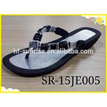 Air Sole Blowing Slipper Sapatos, diament pvc flat shoes