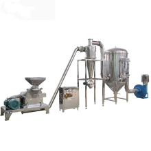 Micronizer crushing grinder pulverizing  with dust collecting machine for pumpkin seed powder making equipment
