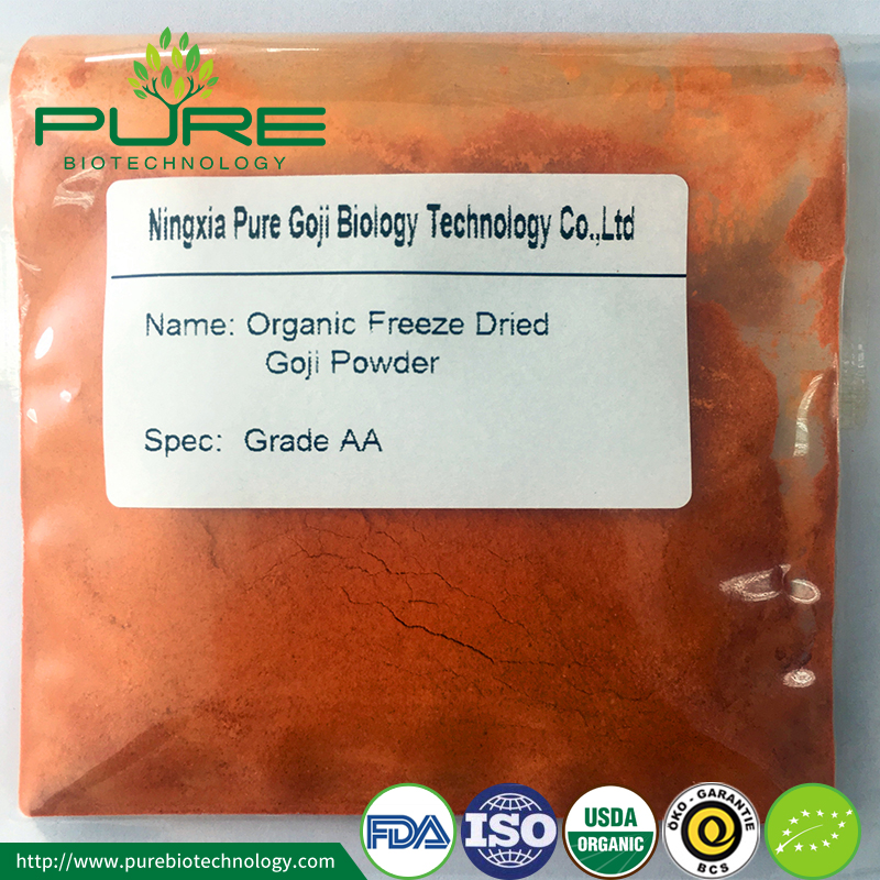 Freeze Dried Organic Goji Powder