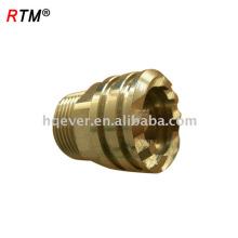 J17 4 12 9 pex pipe acessórios de compressão de latão porcas da tubulação de bronze e acessórios