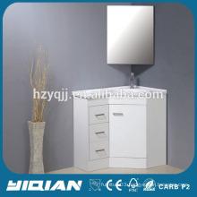 Corner Cabinet Resin Basin Mirrored Corner Cabinet Commercial White Lacquer MDF Bathroom Corner Cabinet