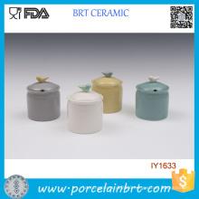 Wholesale Lovely Colorful Ceramic Spice Jar