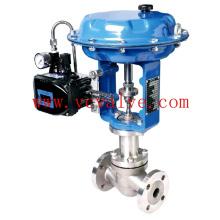 Válvula globo de controle flangeada com atuador elétrico
