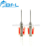 BFL carburo 1 mm Bola Nariz End Mill cortadores, cuello largo corto flauta End Mill