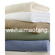 Waffle Weave 100%Cotton Hotel Blanket