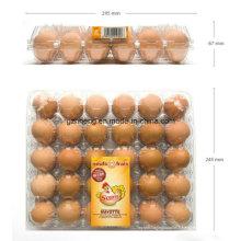 Boîte d'emballage pour contenants d'oeufs en PVC (plateau en plastique)