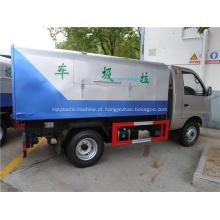 Novo estilo 4x2 mini caminhão de lixo carregador traseiro
