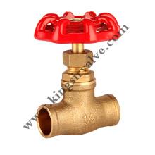 Brass globe  valves with solder ends