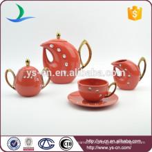 15pcs глянцевый арабский чайный сервиз с акриловым камнем