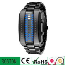 Relógio plástico do diodo emissor de luz Multifuction da forma com FCC do CE de RoHS