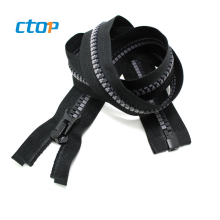 wholesale large long chain small teeth plastic zipper