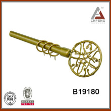 B19180 home decoration wrought iron curtain rod finials,double single rail curtain rod accessories