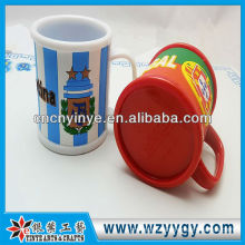 Fashion promotional mug with rubber cover