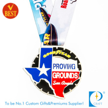 Supply Cheap Customized Special Design Zinc Alloy Soft Enamel Souvenir Medal with Ribbon