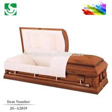 Luxury customized antique solid oak American casket